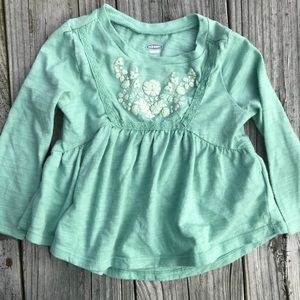 18-24M Old Navy mint green top